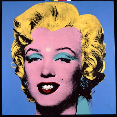 Warhol, Blue shot Marilyn